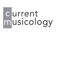 Current Musicology
